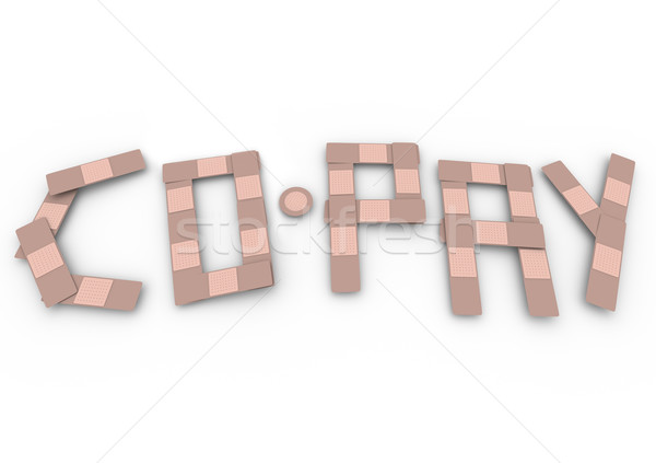 Co-Pay Word Insurance Bandages Deductible Medical Bill Stock photo © iqoncept