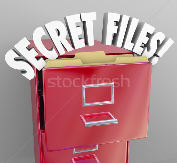 Secret Files Filing Cabinet 3d Words Confidential Classified Inf Stock photo © iqoncept
