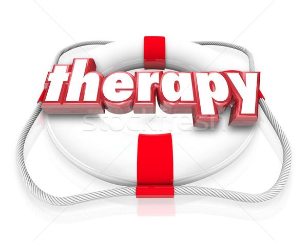 Therapy Word Life Preserver Medical Health Care Rehab Stock photo © iqoncept