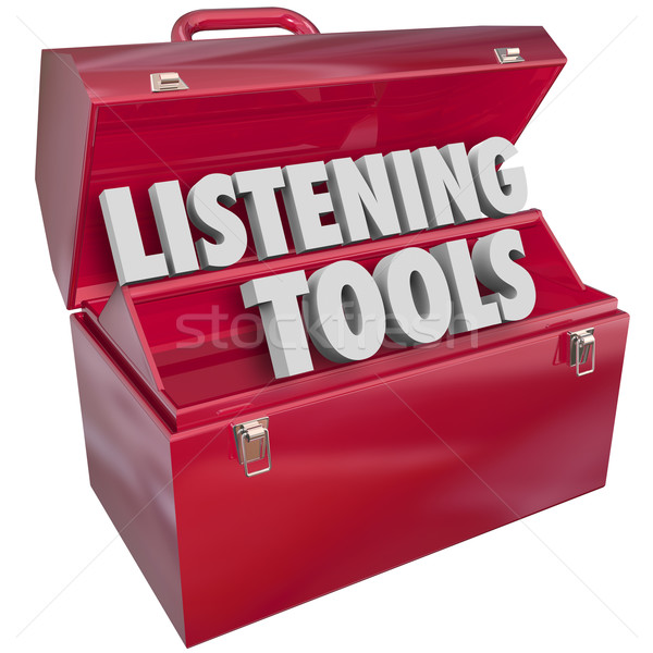 Listening Tools Toolbox Social Media Monitoring Resources Stock photo © iqoncept