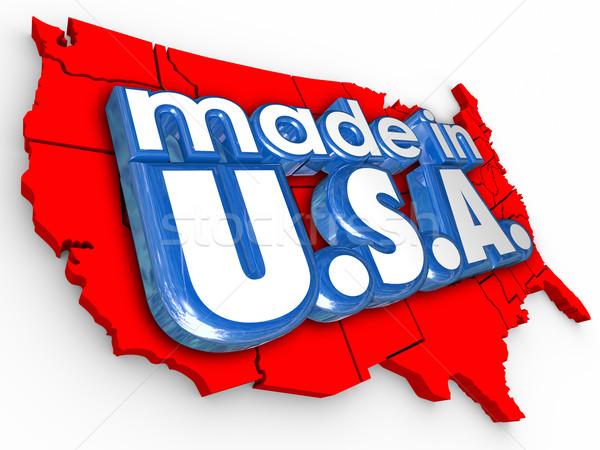 USA Amerika gyártás gyártás áru termékek Stock fotó © iqoncept