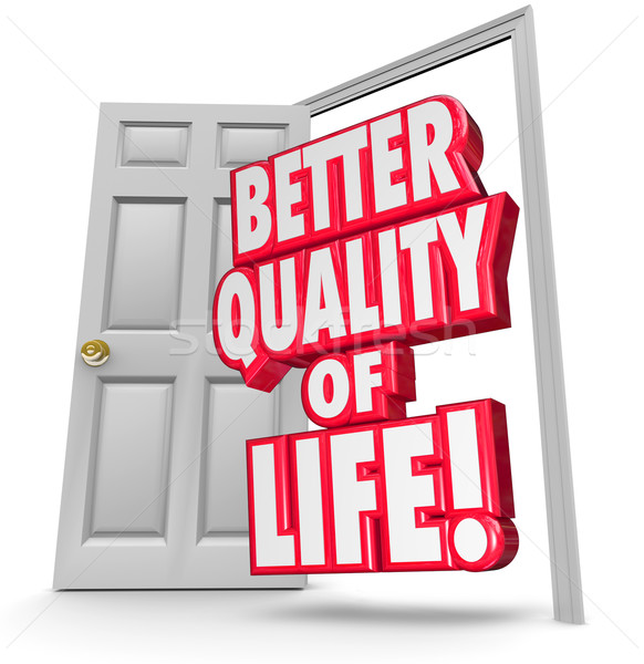 Better Quality of Life Improve Situation Open Door Stock photo © iqoncept
