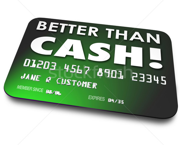 Better Than Cash Credit Debit Gift Card Easy Convenience Shoppin Stock photo © iqoncept