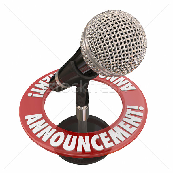 Announcement Microphone Public Address Speech Important News Ale Stock photo © iqoncept