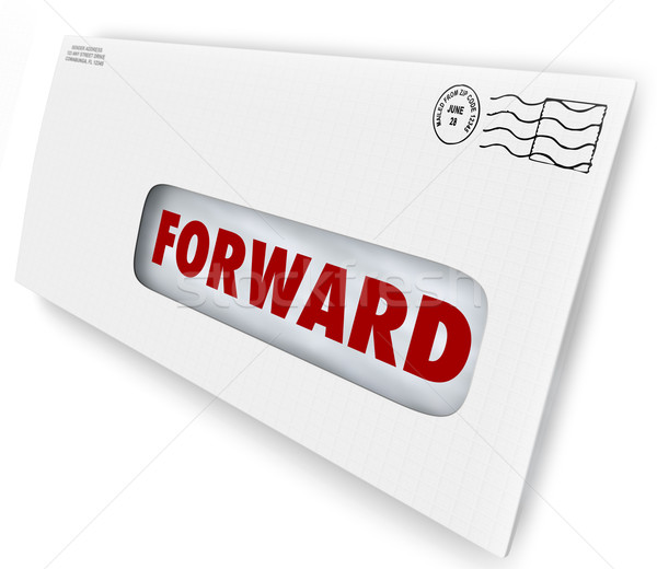 Forward Mail Vacation Stop Delivery Send New Address Stock photo © iqoncept