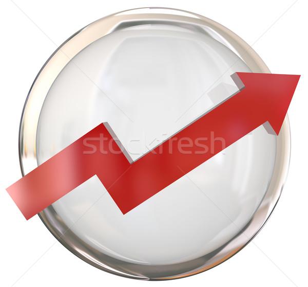 Red Arrow White Shiny Button Isolated Stock photo © iqoncept