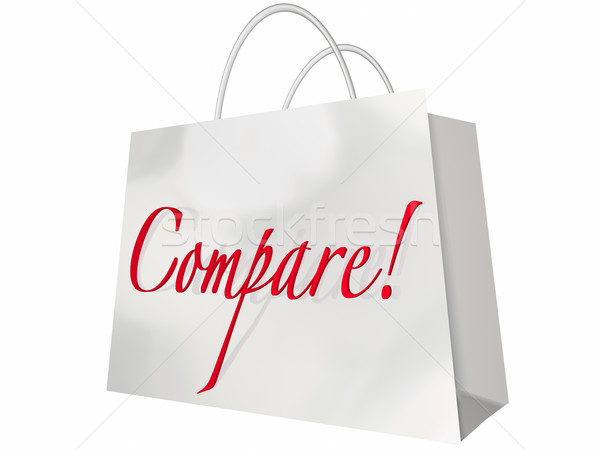 Compare Shop Best Deal Lowest Price Stores Comparison Bag Stock photo © iqoncept