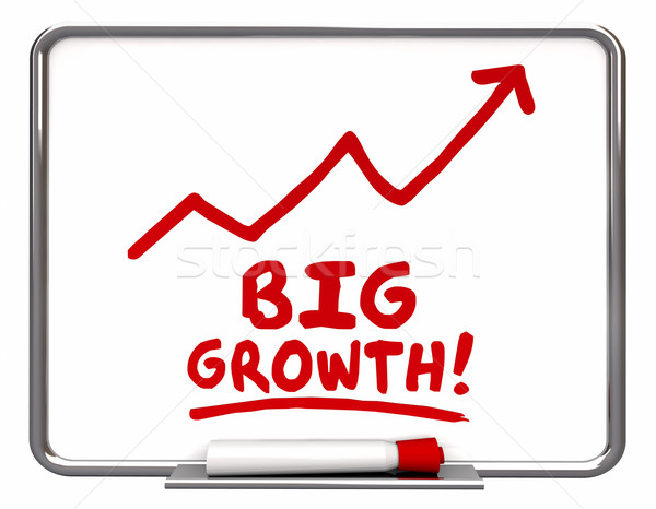 Big Growth Arrow Rising Improve Increase Words 3d Illustration Stock photo © iqoncept