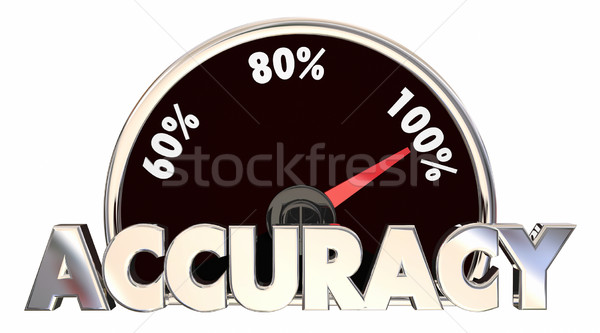 Accuracy Correct Right True Facts Measurement 3d Illustration Stock photo © iqoncept