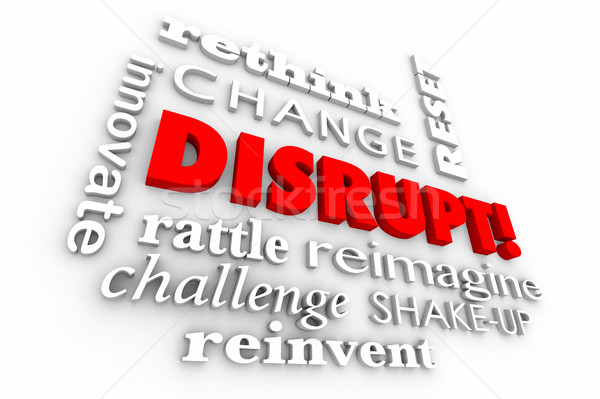 Stock photo: Disrupt Change Innovate Words Collage 3d Illustration