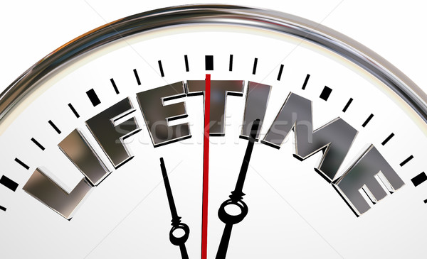 Lifetime Clock Experience Living Span Word 3d Illustration Stock photo © iqoncept