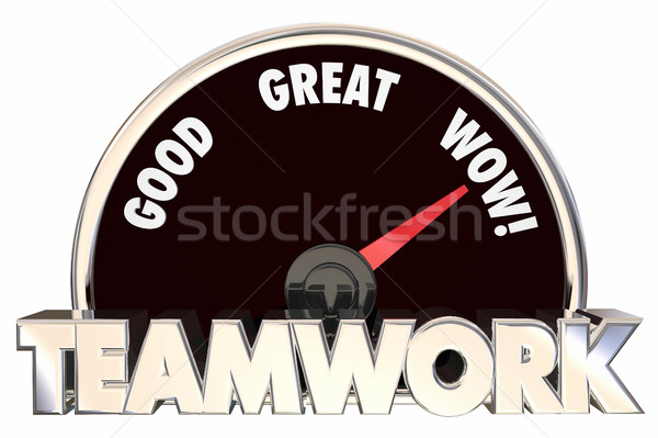 Teamwork Working Together Collaboration Cooperation Speedometer  Stock photo © iqoncept