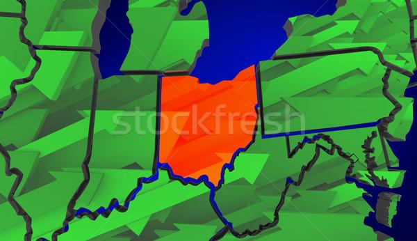 Ohio wzrost gospodarki Stany Zjednoczone Zdjęcia stock © iqoncept