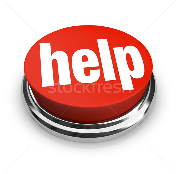 Help- Red Button Stock photo © iqoncept