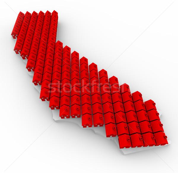 California Houses - Real Estate Map Stock photo © iqoncept