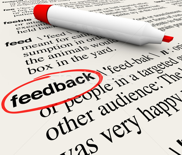Feedback Circled Word Definition Dictionary  Stock photo © iqoncept