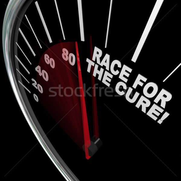 Race for the Cure Speedometer Fundraiser Words Stock photo © iqoncept