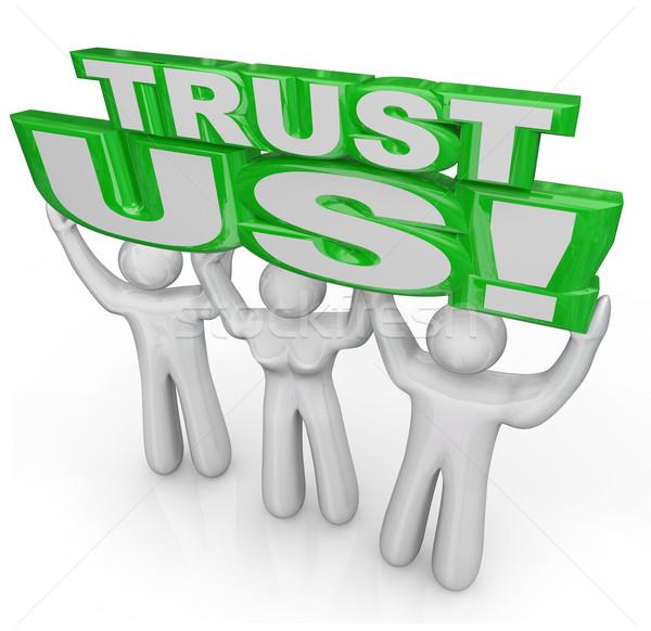 Stockfoto: Vertrouwen · team · mensen · lift · woorden · belofte