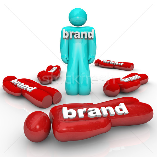 One Brand Market Leader Top Product Company Stock photo © iqoncept