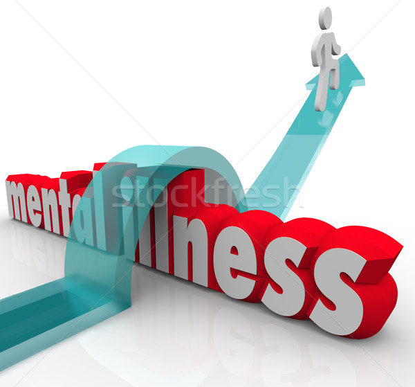 Mental Illness One Person Overcoming Disease Disorder  Stock photo © iqoncept