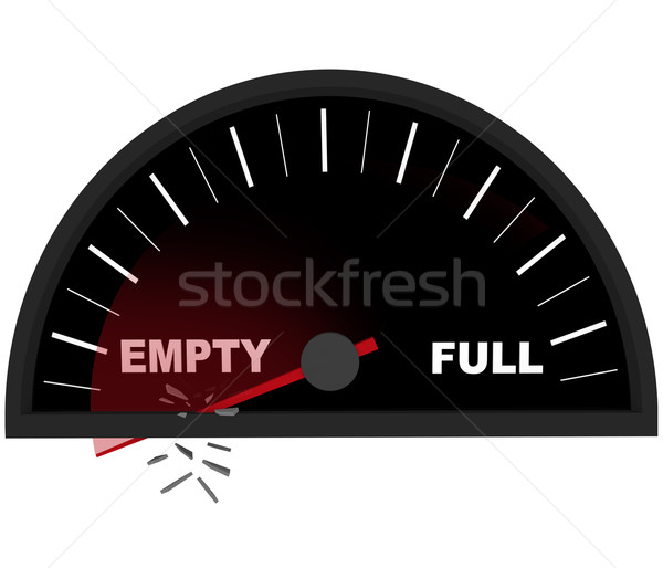 Running on Empty - Fuel Gauge Stock photo © iqoncept