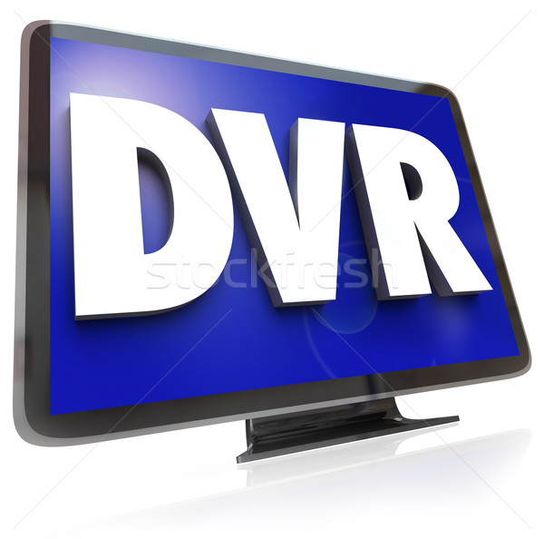 DVR Letters on Widescreen TV HDTV Television Stock photo © iqoncept