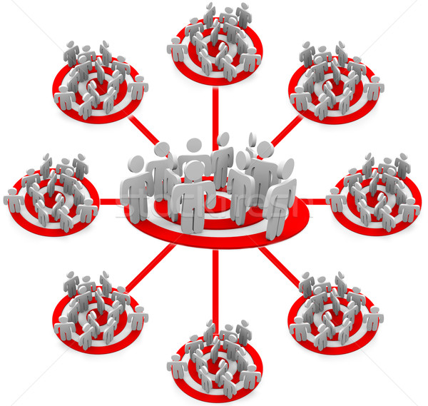 Targeted Marketing - Flowchart of groups Stock photo © iqoncept