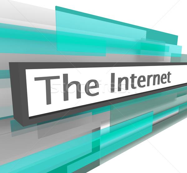 интернет сайт адрес Бар веб слово Сток-фото © iqoncept