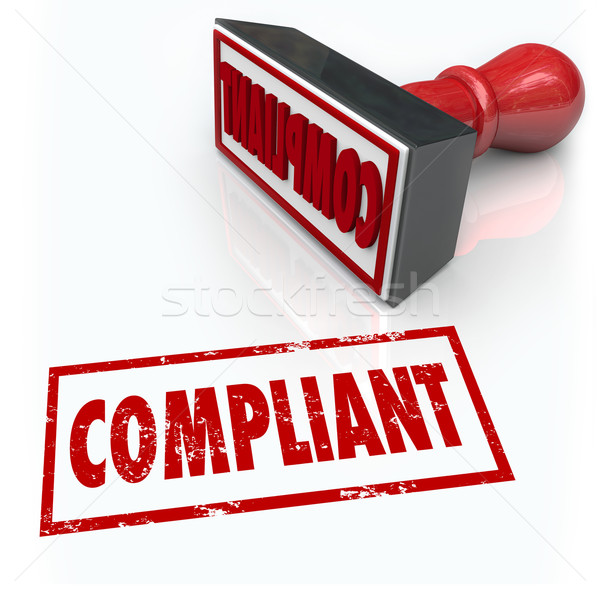 Compliance Stamp Word Audit Rating Feedback Stock photo © iqoncept