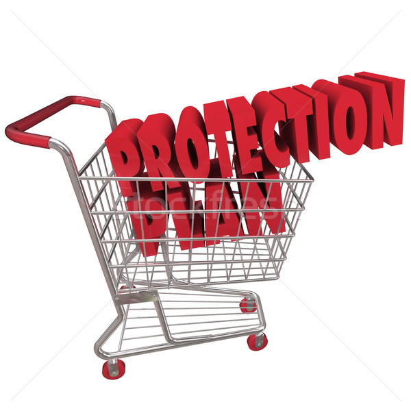 Protection Plan Extended Warranty Coverage Shopping Cart Stock photo © iqoncept