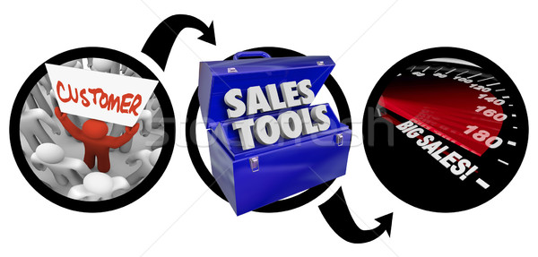 Sales Selling Methods Tools Turn Prospects Into Big Customers  Stock photo © iqoncept