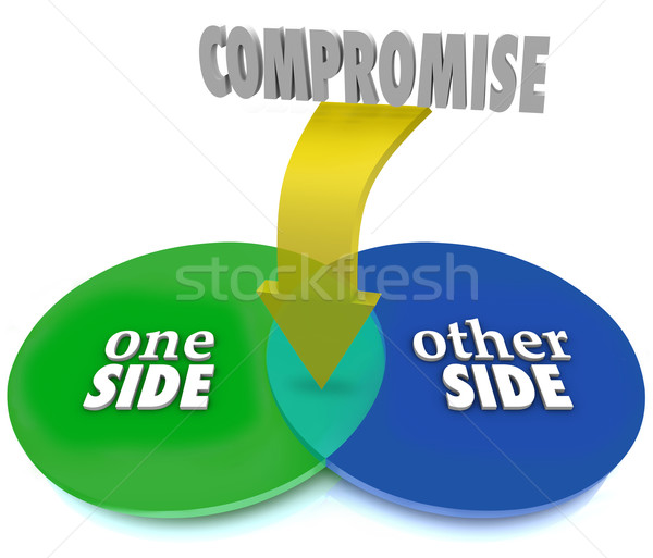Compromise Venn Diagram Negotiate Settlement Stock photo © iqoncept