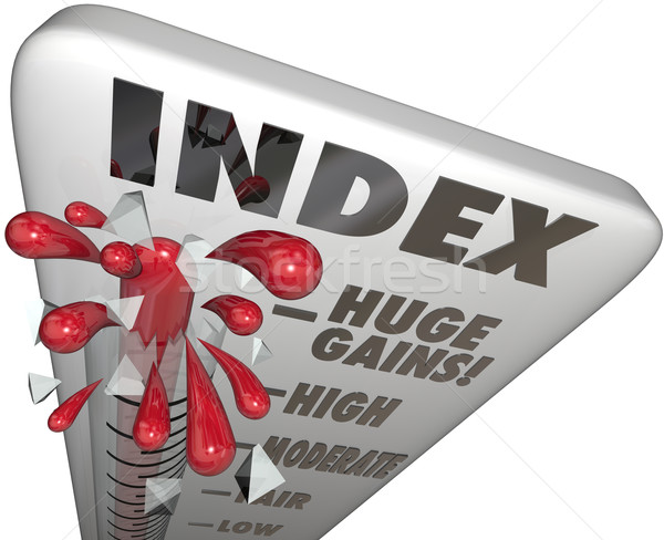 Index Measuring Level Rating Score Comparing Periods Performance Stock photo © iqoncept