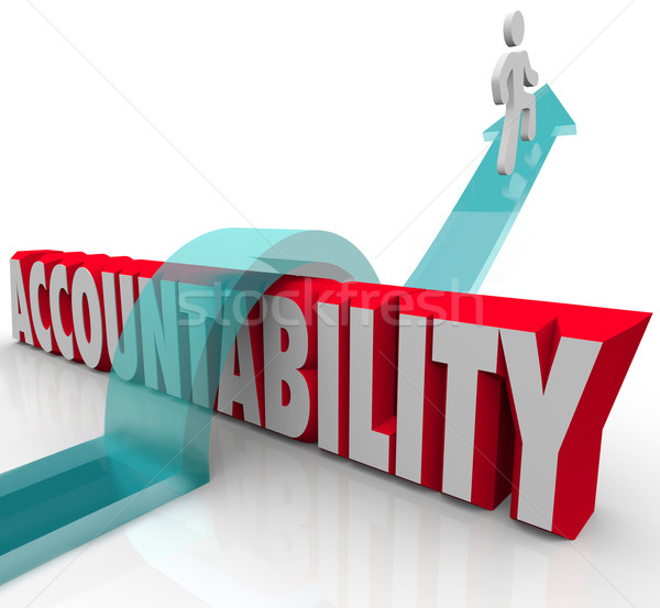 Accountability Person Running from Responsibility Stock photo © iqoncept