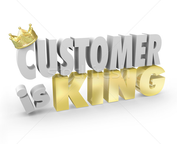 Customer is King 3d Words Crown Top Priority Service Stock photo © iqoncept