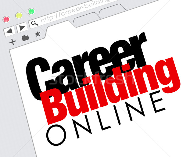 Career Building Online Website Job Seeking Classified Stock photo © iqoncept