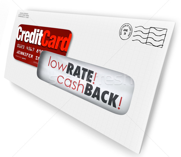Credit Card Offer Letter Envelope Solicitation Low Rate Cash Bac Stock photo © iqoncept