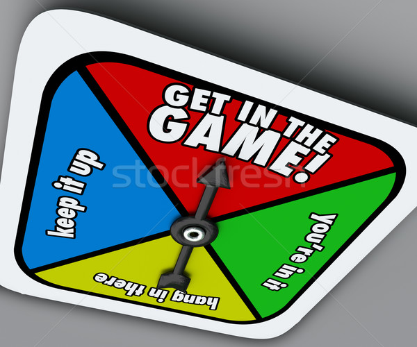 Get In The Game Spinner Compete Win Competition Take Chance Stock photo © iqoncept