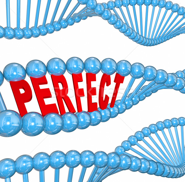 Perfect Genes DNA Hereditary Health Good Wellness Condition Stock photo © iqoncept
