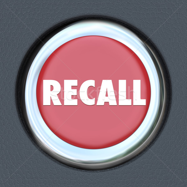 Recall Car Ignition Button Vehicle Repair Fix Defective Lemon Stock photo © iqoncept