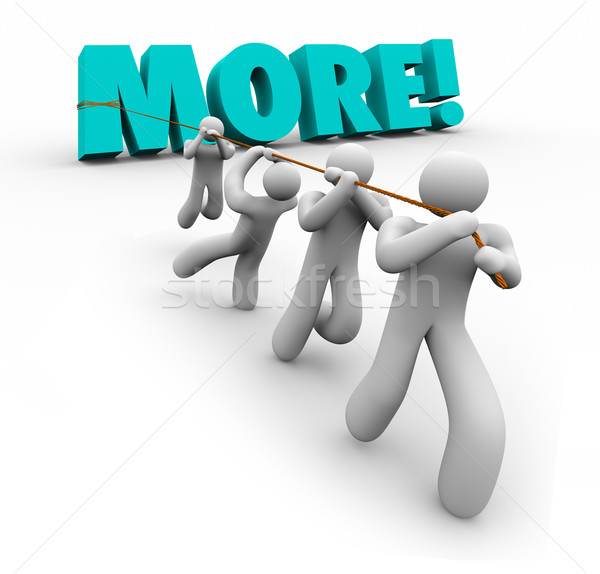 More Word Team Pulling Increase Improve Results Stock photo © iqoncept