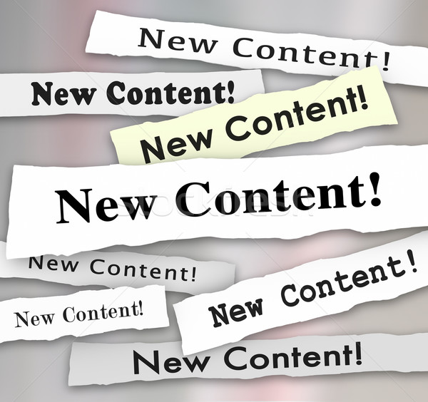 New Content Newspaper Headlines More Additional Information Blog Stock photo © iqoncept
