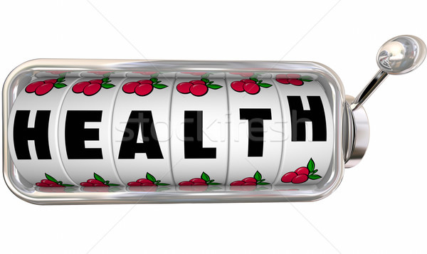 Health Word Slot Machine Wheels Dials Gamble Feel Better Stock photo © iqoncept