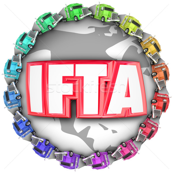 IFTA International Fuel Tax Agreement Trucks Around Letters Acro Stock photo © iqoncept