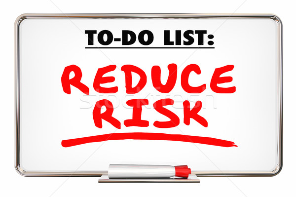 Reduce Risk Safety Prevent Loss Writing Words 3d Illustration Stock photo © iqoncept
