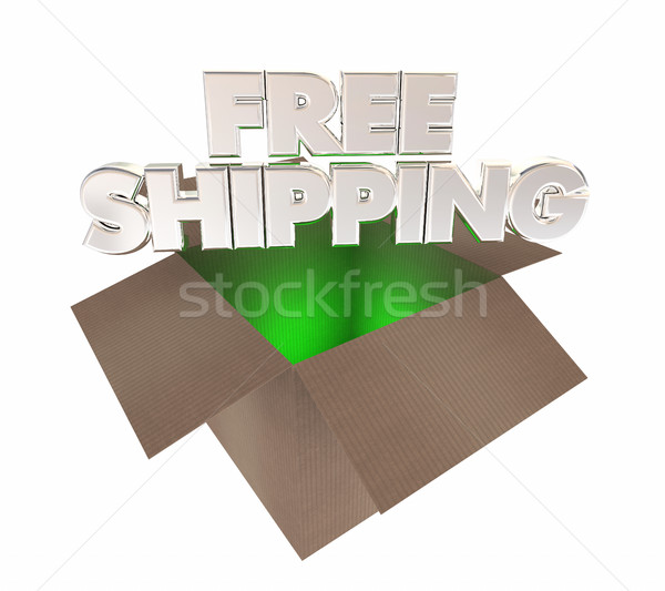 Free Shipping Online Shopping Cardboard Box 3d Illustration Stock photo © iqoncept