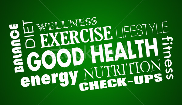 Good Health Nutrition Diet Fitness Exercise 3d Illustration Stock photo © iqoncept