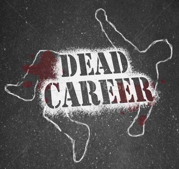 Dead Career - Chalk Outline of Obsolete or Demoted Position Stock photo © iqoncept