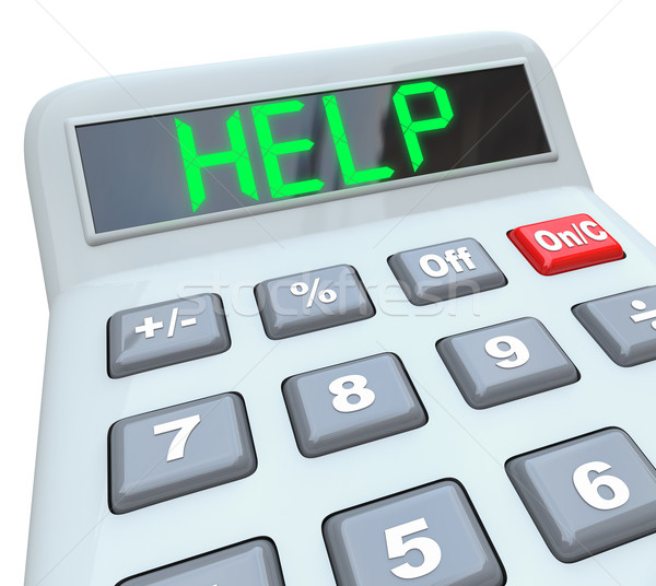 Help - Word on Calculator for Assistance in Financial Trouble Stock photo © iqoncept