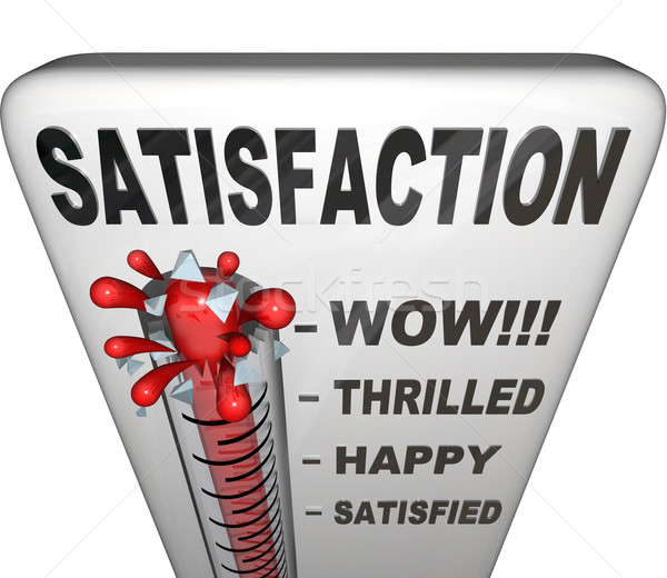 Stock photo: Satisfaction Thermometer Measuring Happiness Fulfillment Level